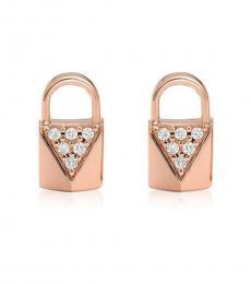 Michael Kors Rose Gold Envelope Stud Earrings