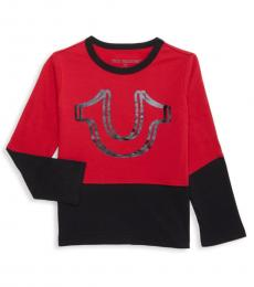 Little Boys Ruby Red Two-Tone T-Shirt
