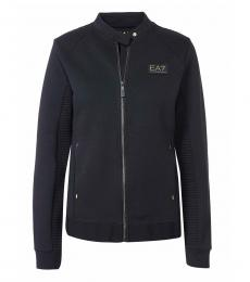 Emporio Armani Black Sweatshirt Logo Jacket
