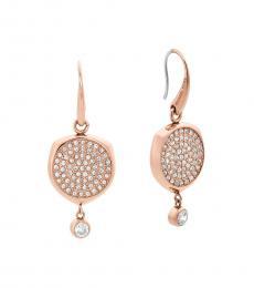 Rose Gold Brilliant Disc Earrings