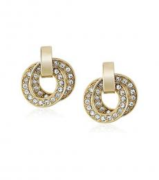 Michael Kors Gold Double Interlocking Earrings