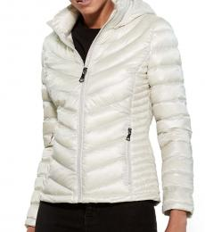 Calvin Klein Shine Cement Hooded Quilted Jacket