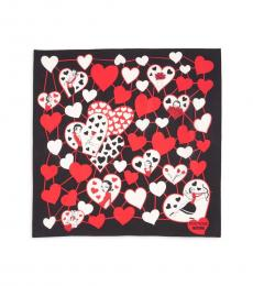 Moschino Black Printed Stylish Scarf