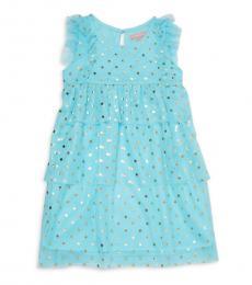 BCBGirls Little Girls Blue Angel Foil Print Dress