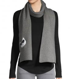 Heather Granite Reversible-Sequin Patch Scarf
