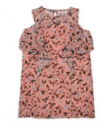 BCBGirls Little Girls Rose Bud Printed Ruffled Dress
