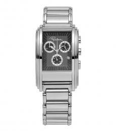 Roberto Cavalli Silver Eson Chronograph Watch