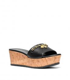 Michael Kors Black Elsa Leather Wedges