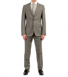 Grey Wool Two Button Suit