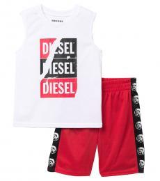 Diesel 2 Piece Tank/Shorts Set (Little Boys)