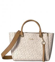 Almond Raelynn Signature Large Satchel