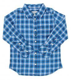 Diesel Boys Blue Check Shirt