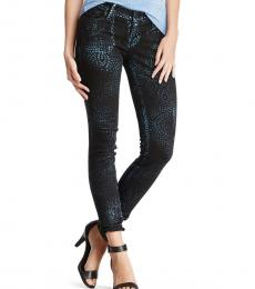 True Religion Black Casey Coated Jeans