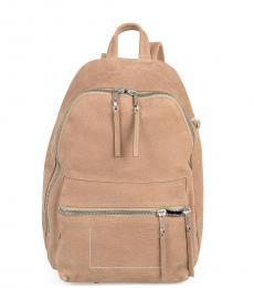 Rick Owens Beige Solid Medium Backpack