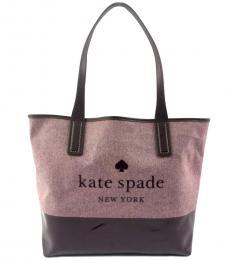 Kate Spade Deep Plum Ash Street Logo Large Tote