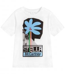 Stella McCartney Little Girls White Graphic T-Shirt