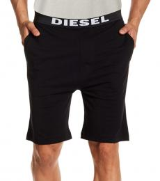 Diesel Black Tom Cotton Pajama Shorts