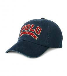 Ralph Lauren Cruise Navy Twill Baseball Cap