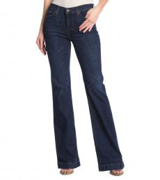 Dark Blue Dojo Wide Leg Jeans