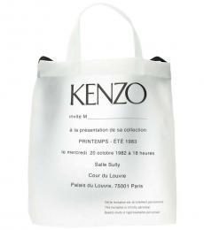Kenzo White Logo Large Tote