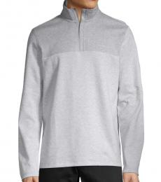 Calvin Klein Heather Grey Logo Cotton Sweatshirt