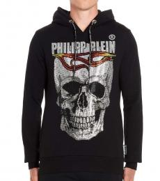 Philipp Plein Black Flame Logo hoodie