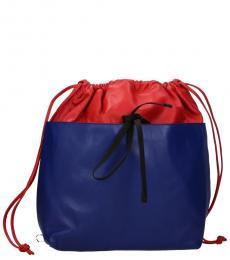 Marni Red/Blue Drawstring Large Backpack