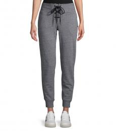 Black Lace-Up Jogger Pants