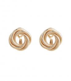 Gold Circle Knot Clip-On Earrings
