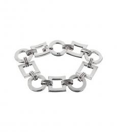 Silver Square Circle Connector Bracelet