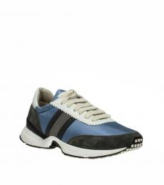 Blue Front Logo Sneakers