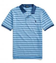 Ralph Lauren Boys Fall Blue Multi Striped Polo