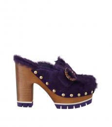 Purple Xiangao Fur Heels