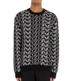 McQ Alexander McQueen Black All over logo sweater