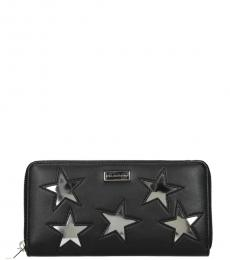 Stella McCartney Black Silver Star Zip Wallet