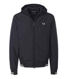 Fred Perry Black Logo Bomber Jacket