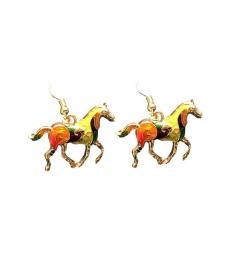 Multi Color Horse Earrings