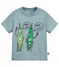Stella McCartney Baby Boys Blue Peas T-Shirt