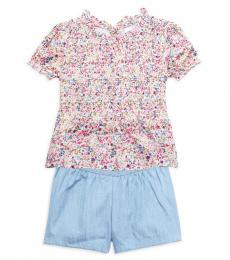 2 Piece Top/Shorts Set (Little Girls)