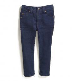 DKNY Little Boys Caspian Blue Stretch Twill 5-Pocket Jeans