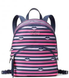 Kate Spade Pink Stripe Karissa Medium Backpack