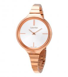 Calvin Klein Rose Gold Lively Silver Dial Watch