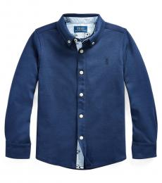 Little Boys Newport Navy Interlock Shirt