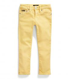 Ralph Lauren Little Girls Empire Yellow Tompkins Skinny Fit Jeans