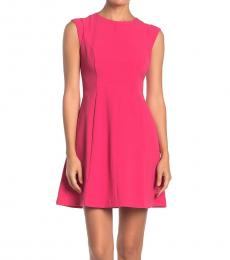 Vince Camuto Pink Petite Fit & Flare Dress