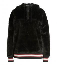 UGG Black Striped Faux Fur Hoodie