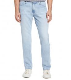 AG Adriano Goldschmied Light Blue Graduate Slim Straight Jeans