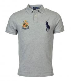 Ralph Lauren Grey Custom Slim Fit Polo