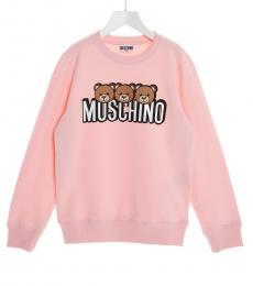 Moschino Boys Pink Teddy Sweatshirt