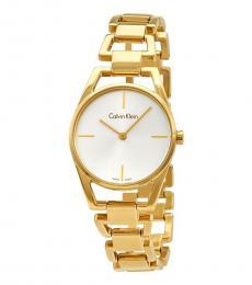 Calvin Klein Gold Dainty Silver Dial Watch